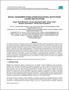 thesis on sexual harassment in schools