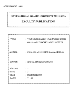 kamal hassan quranic paradigm M kamal hassan istac, iium 1  vicegerents, the believers, the islamic  scholars to use their god-given  'this paradigm is to engage the different  branches.